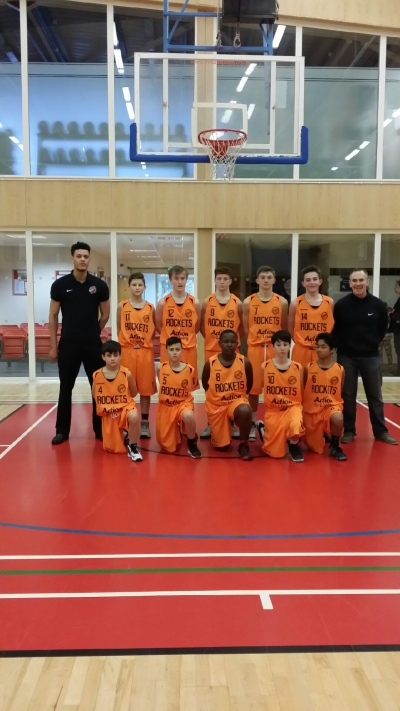 Essex Rockets Basketball team - sponsored by Action for Living